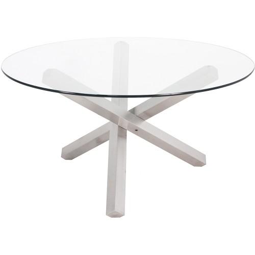 Tavolo tondo di cristallo for Tavolo di cristallo
